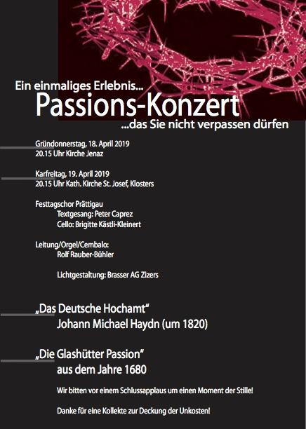 Plakat Passions-Konzerte